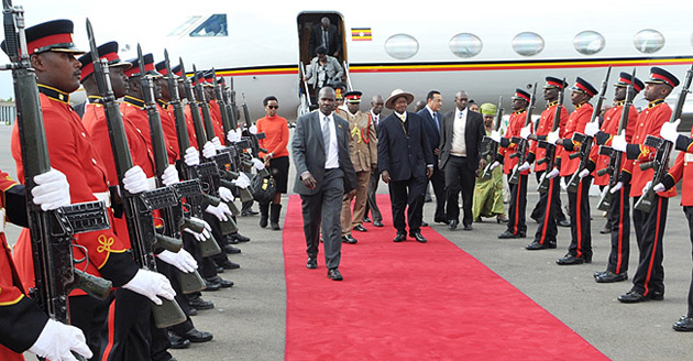 Museveni in Kenya for golden jubilee fete