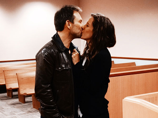 Christian Slater and Girlfriend Brittany Lopez Tie the Knot