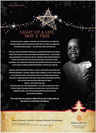 Santa Claus Serena style – be part of lighting up a child's face this Christmas