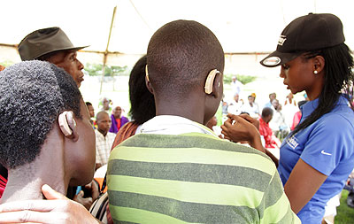 350 screened for hearing impairment