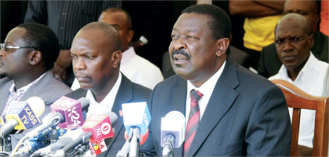 Mudavadi leads Amani strategy talks