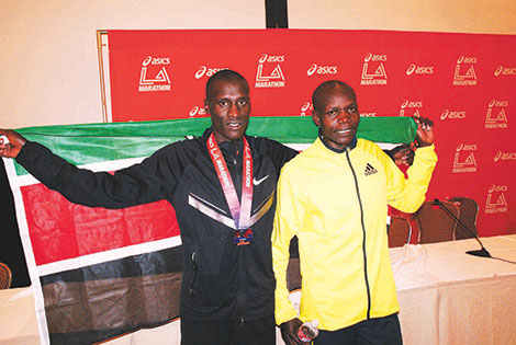 Kenyans take position 2-5 as Ethiopian excels in LA