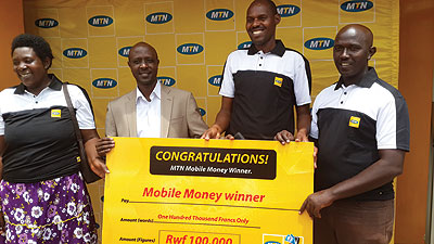 Five win in MTN mobile money promo