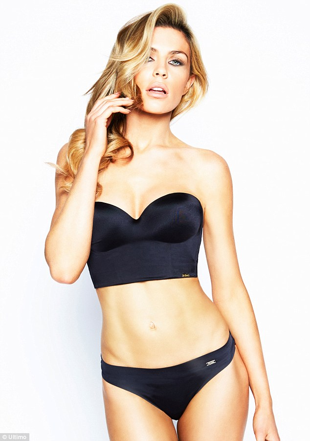Abbey Clancy models Ultimo's new backless bra