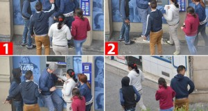 Paris cashpoint thieves swarm around tourist and take his money
