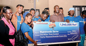 Guma Guma superstars light up homes for Genocide survivors in Nyamirambo