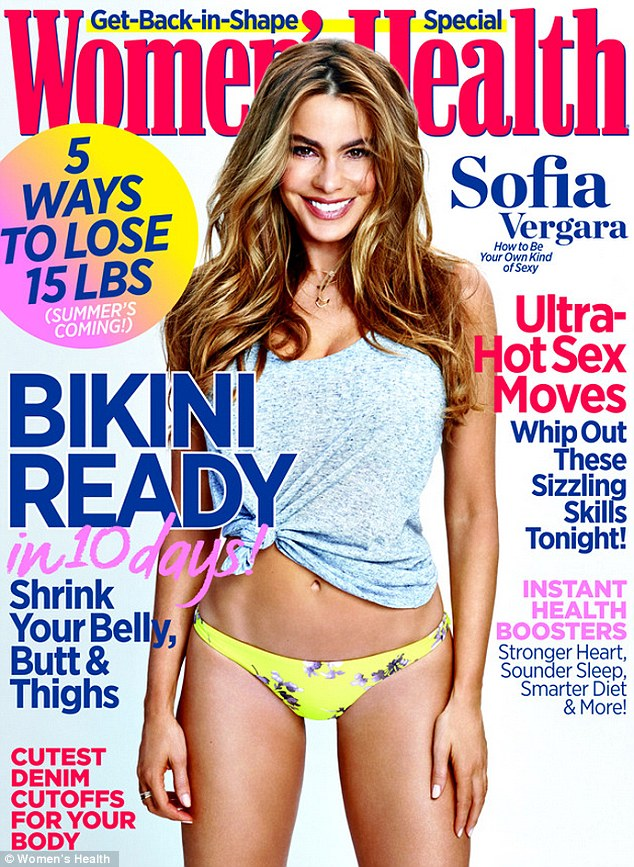 Sofia Vergara shows off taut abs in bikini on Women's Health cover