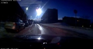 Meteorite stuns driver as is it shoots through Russian city at night