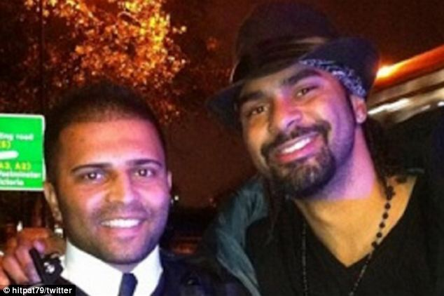 Boxing champion David Haye given slapped wrist rather than speeding fine after posing for 'selfie' with policeman who pulled him over