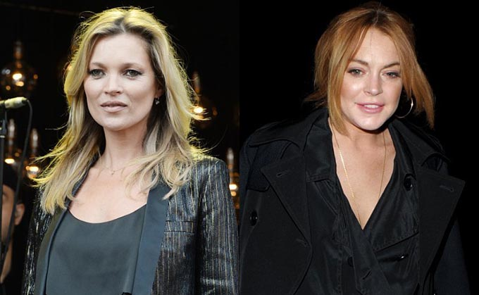 Kate Moss and Lindsay Lohan Reportedly Fight in Nightclub